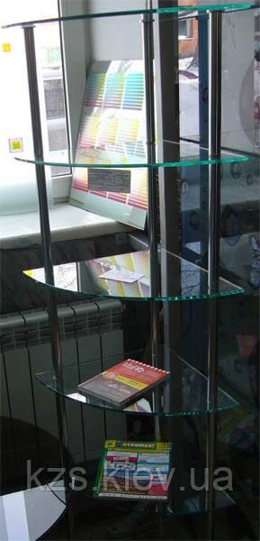 Угловая стойка под журналы из стекла