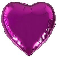 Фольгированный шар 18' Китай Сердце малиновое, 45 см