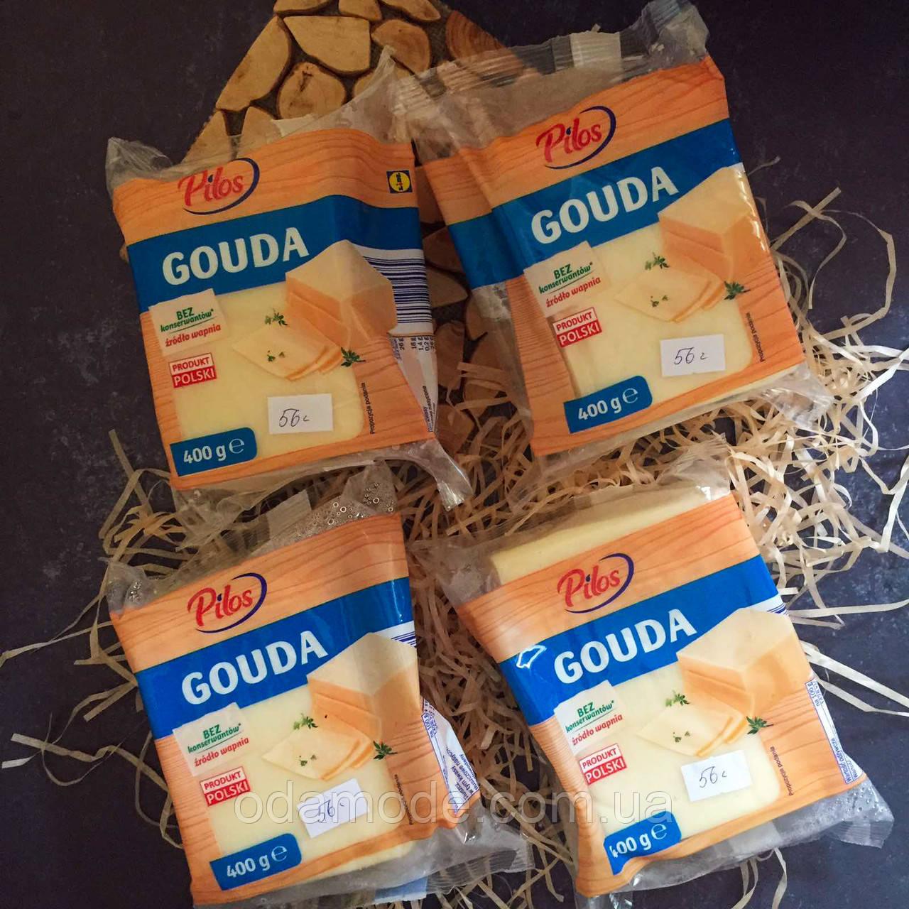 Сыр твердый гауда Pilos Gouda, 400гр (Польша)