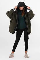 Стильная молодежная утепленная куртка оверсайз демисезонная, размер 42-46, фото 2