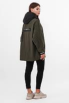 Стильная молодежная утепленная куртка оверсайз демисезонная, размер 42-46, фото 3