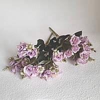 Букет троянд тканинні міні бузкові