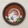 Миска - 700 мл, Коричневая, Цветы (Славянская Керамика) Глазурь, фото 2