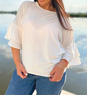 Симпатичная блуза с воланами на рукавах, фото 2