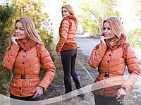 Куртка трансформер пуховик китай желетка рыжая, фото 1