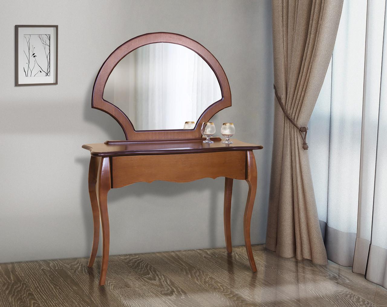 Стол-трюмо Камелия (без зеркала)  Модуль люкс, орех темный