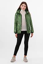 Короткая зеленая осенняя куртка женская куртка размер 44-46, 48-50, фото 3