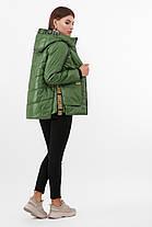 Короткая зеленая осенняя куртка женская куртка размер 44-46, 48-50, фото 2