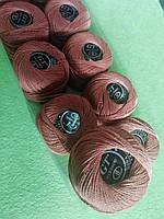 Хлопок Пряжа Ирис №8/ 10 грамм светло-коричневый 926