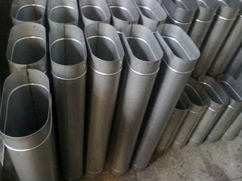 Труба овальная 120/240 нержавеющая сталь 1 мм, L=1000 мм  для  гильзовки дымохода