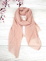 Тонкий шарф Fashion Мэри из вискозы 180*80 см горох пудровый