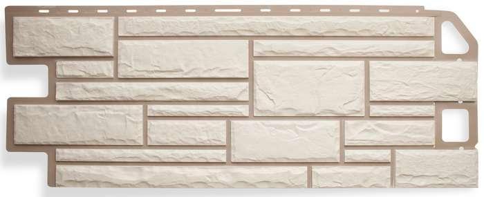 Камень Белый. Фасадные панели. Цокольный сайдинг.