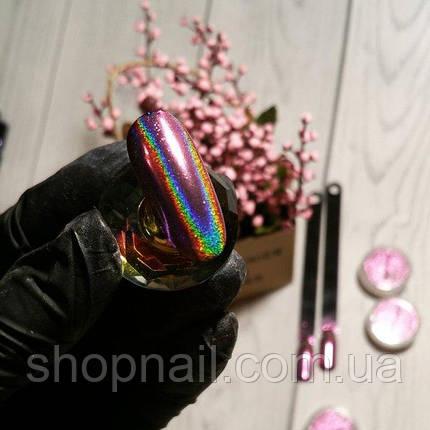 Втирка голограммная Розовая призма, фото 2