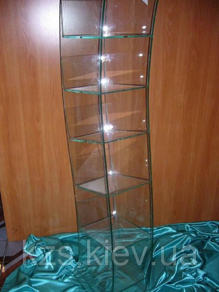 Стойка для книг и журналов из стекла