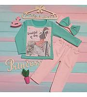 Детский костюм + повязочка на голову для девочки. Рост 86-92см