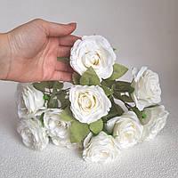 Букет білих троянд тканинних. Весільний Декор