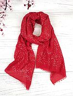 Тонкий шарф Fashion Мэри из вискозы 180*80 см горох красный