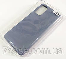 Чехол для Samsung Galaxy S20 G980 матовый Silicone Case Full Cover Macarons Color