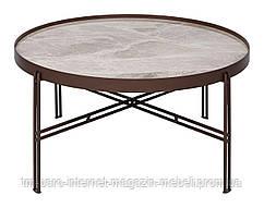 Стол журнальный ETON B (82.7*82.7*38см) керамика светло-серый глянец, Nicolas