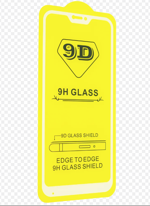 Защитное стекло 9D Xiaomi Redmi 6 Pro / Xiaomi mi A2 lite Рамка Белая полная проклейка твёрдость 9H
