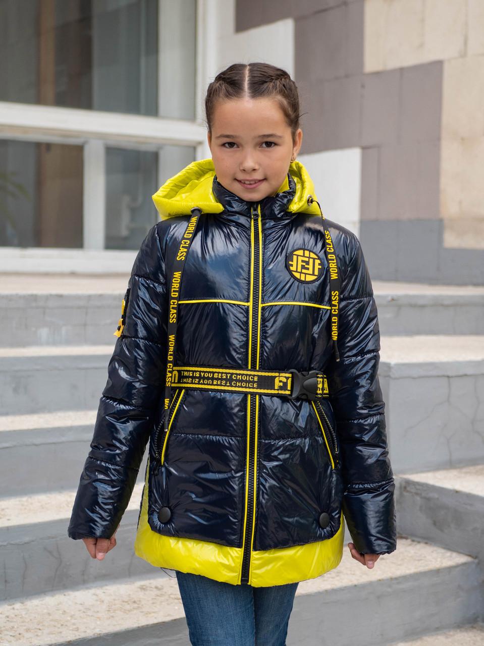 Осенние куртки для девочек от производителя  34-44  синий