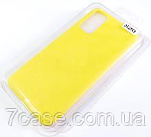 Чехол для Samsung Galaxy S20 G980 матовый Silicone Case Full Cover Macarons Color Желтый