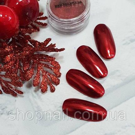Втирка Red Chrome Nailapex, фото 2