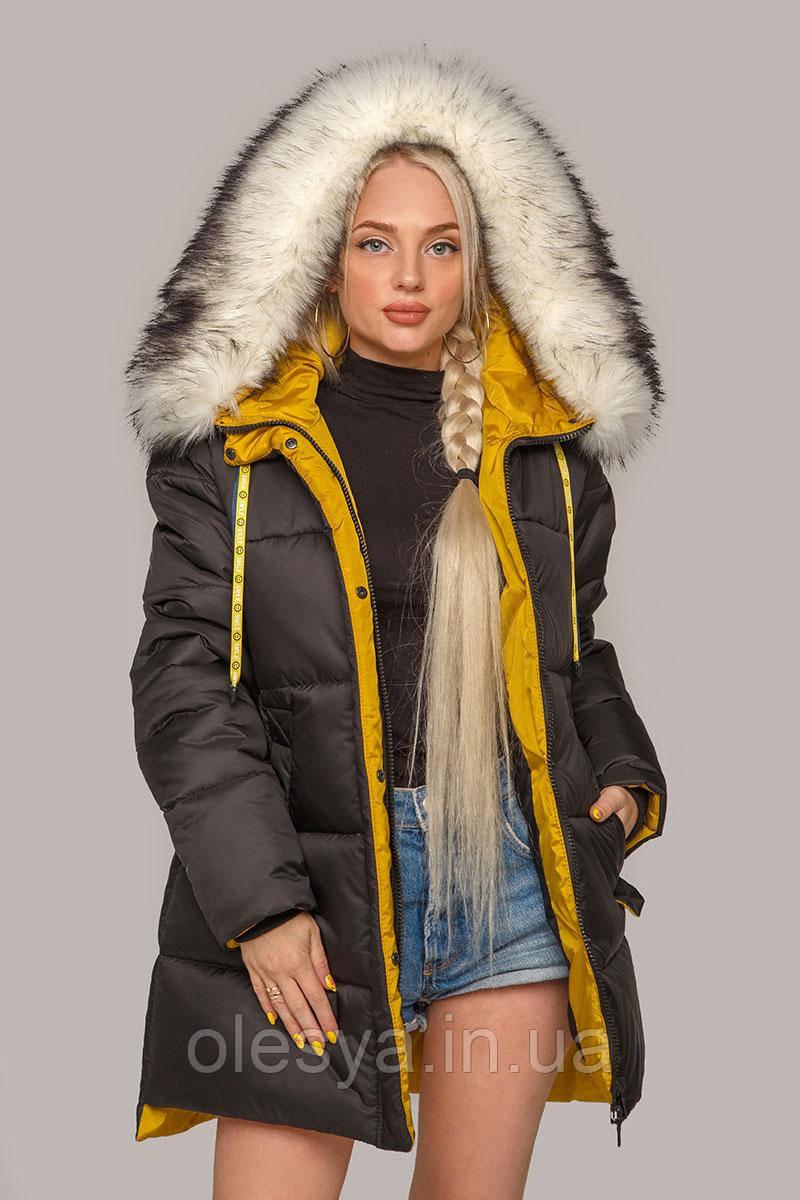 Зимняя женская куртка пуховик Лиза размеры 42- 56