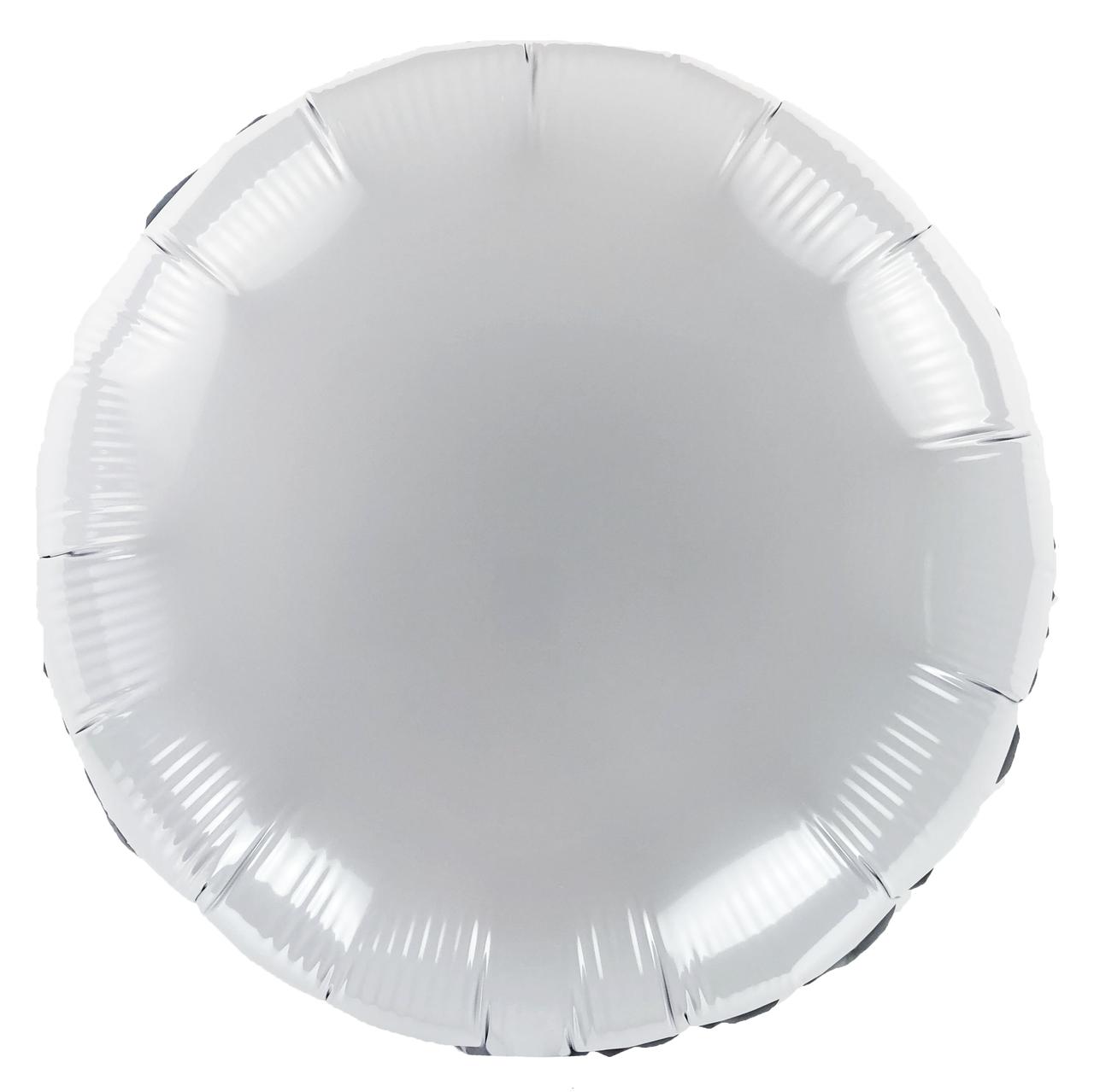 Фольгированный шар 18' Китай Круг белый, 45 см