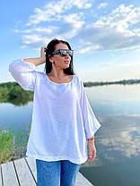 Воздушная блуза в однотонном цвете, фото 2