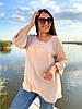 Воздушная блуза в однотонном цвете, фото 6