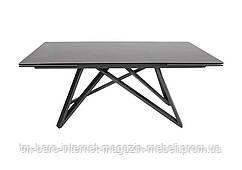 Стол обеденный AJAX (180/280*95*76cmH керамика) черный, Nicolas