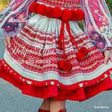 """Спідничка з плетеним поясом """"МарциПані"""" (літо) оранж 146, фото 2"""