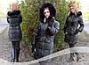 Зимняя куртка   Пуховик  Пальто Парка чёрная орегинальный дизайн