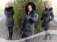 Зимняя куртка   Пуховик  Пальто Парка чёрная орегинальный дизайн , фото 1