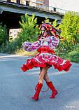 """Спідничка з плетеним поясом """"МарциПані"""" (літо) оранж 146, фото 5"""