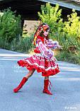 """Спідничка з плетеним поясом """"МарциПані"""" (літо) оранж 146, фото 7"""