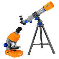 Микроскоп биологический Bresser Junior 40x-640x + Телескоп оптический 40/400