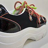 Кроссовки сникерсы черные Erra, фото 2