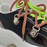 Кроссовки сникерсы черные Erra, фото 6