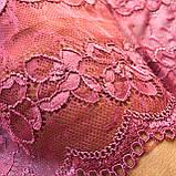 """Еластичне (стрейчевое) мереживо рожевого кольору (""""пильна троянда""""). Ширина 16 див., фото 7"""