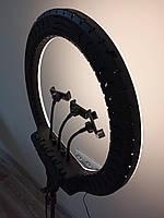 Профессиональная кольцевая LED лампа RL-18 (45см) со штативом и тремя держателями и пультом, 220V