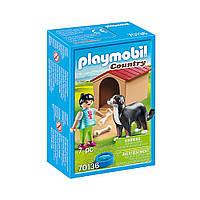 """Игровой набор """"Девушка и собака с будкой"""" Playmobil (4008789701367), фото 1"""