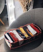 Прозрачный органайзер для футболок, боди, регланов 39х25х9 см L (Розовый)