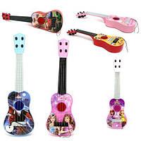 Гитара детская 32см, струны 4 штуки, 3 вида, 367-13-6-7