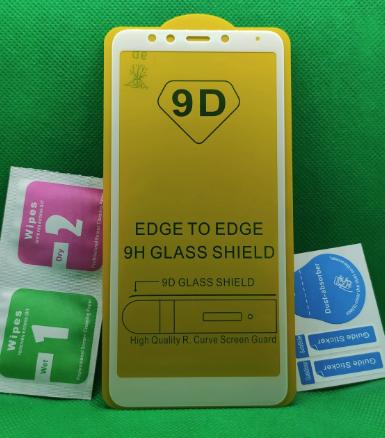 Защитное стекло 6D Xiaomi redmi 5 Рамка Белая полная проклейка твёрдость 9H захисне скло