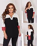 Женская блуза легкая блузка свободного фасона V образный вырез размер: 50, 52, 54, 56-58, фото 3