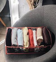 Прозрачный органайзер для футболок, боди, регланов 39х20х9 см M (Розовый)