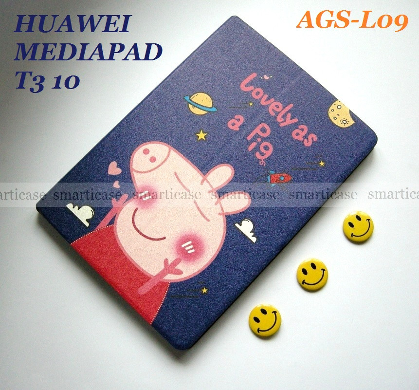 Устойчивый чехол Свинка Пепа для Huawei Mediapad T3 10 (9.6) AGS-L09 (AGS-W09)