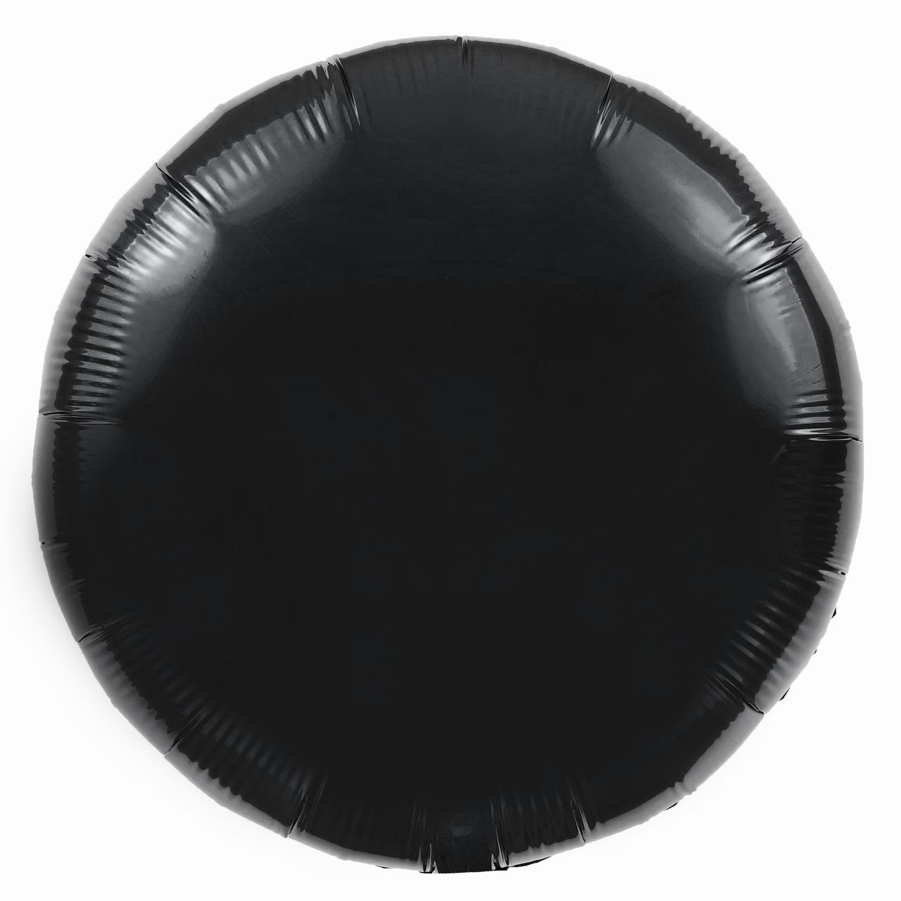 Фольгированный шар 18' Китай Круг черный, 45 см